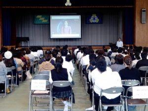 宮崎県立高城高等学校で奨学金講演を行いました