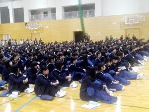 八代白百合学園高校で奨学金セミナー開催